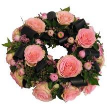 Rouwkrans Tender roze