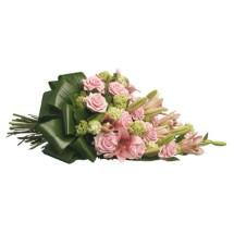 Grande rouwboeket roze